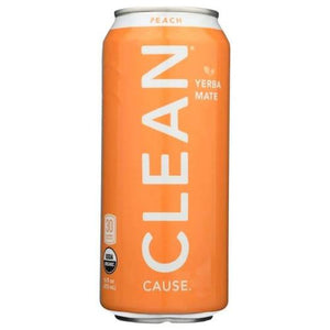 CLEAN Peach Yerba Mate 16 oz