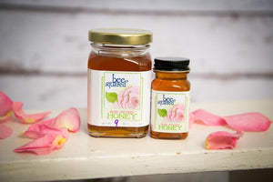 Bee Squared Honey Rose 3 Oz Jar