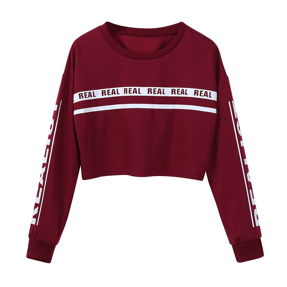 Women Sweatshirt crop top