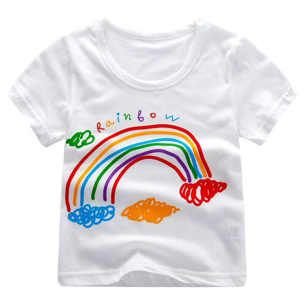 Summer Short Sleeve T Shirts For Kids