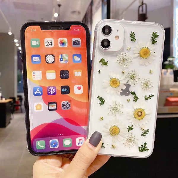 Real Flower Transparent Case for iPhone Models