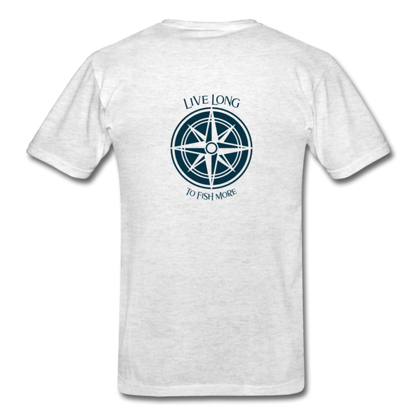 Live Long to Fish More For Men - light heather gray