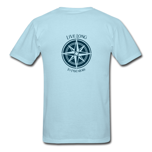 Live Long to Fish More For Men - powder blue