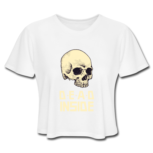 Dead Inside Women's Cropped T-Shirt - white
