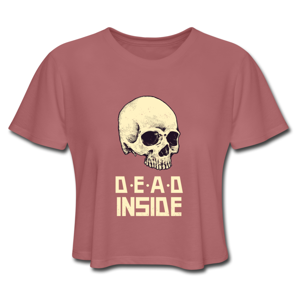 Dead Inside Women's Cropped T-Shirt - mauve