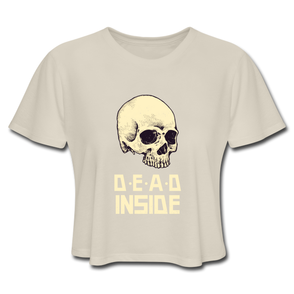 Dead Inside Women's Cropped T-Shirt - dust