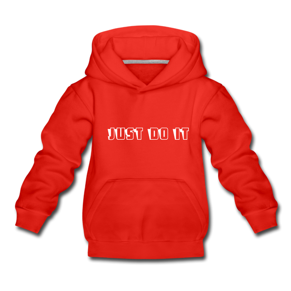 Just Do It Kids' Premium Hoodie - red