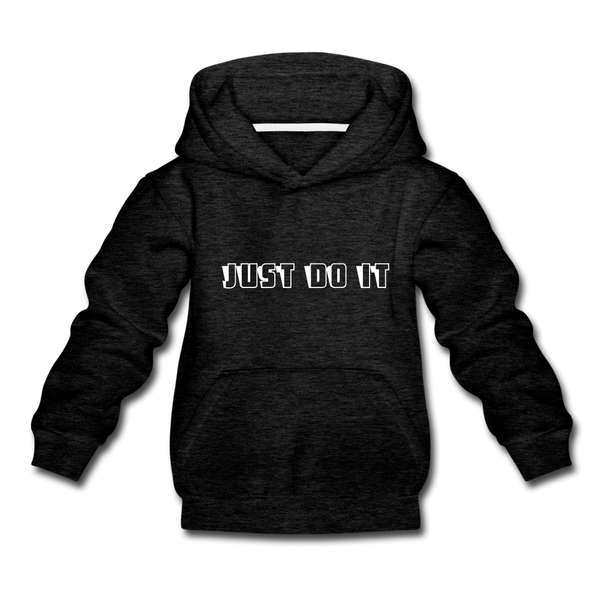 Just Do It Kids' Premium Hoodie - charcoal gray