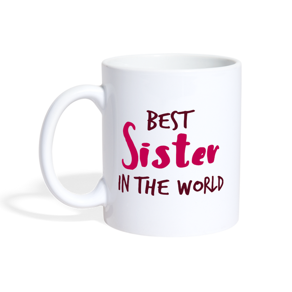 Best sister in the world Coffee/Tea Mug - white