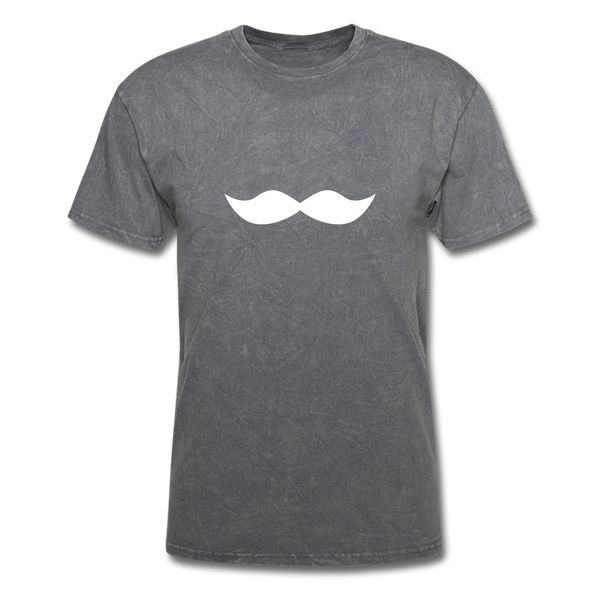 Mustache Movember  Men's T-Shirt - mineral charcoal gray