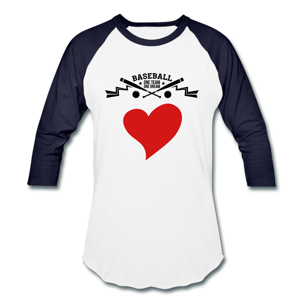 Love Baseball T-Shirt - white/navy