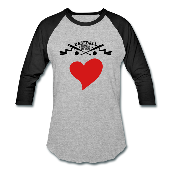 Love Baseball T-Shirt - heather gray/black