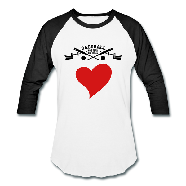 Love Baseball T-Shirt - white/black