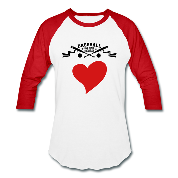 Love Baseball T-Shirt - white/red