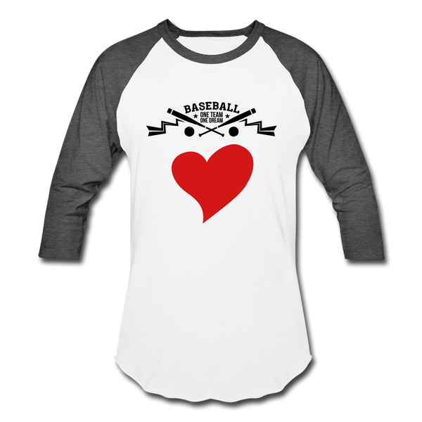 Love Baseball T-Shirt - white/charcoal