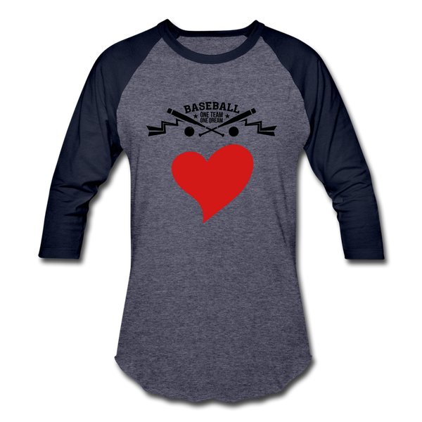 Love Baseball T-Shirt - heather blue/navy