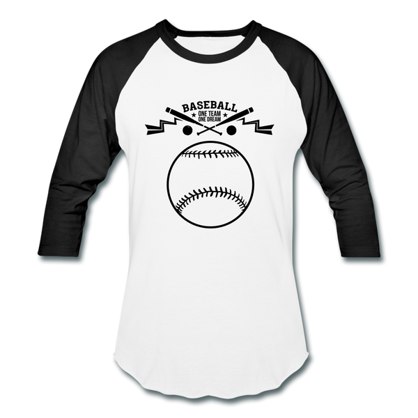 Baseball T-Shirt - white/black