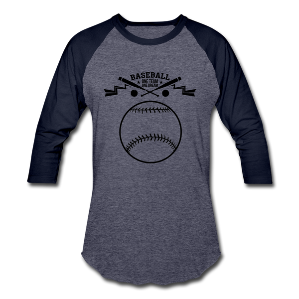 Baseball T-Shirt - heather blue/navy