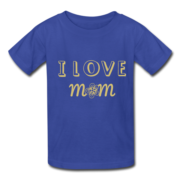 i love mom Kids' T-Shirt - royal blue