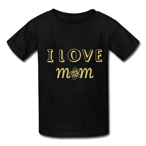 i love mom Kids' T-Shirt - black