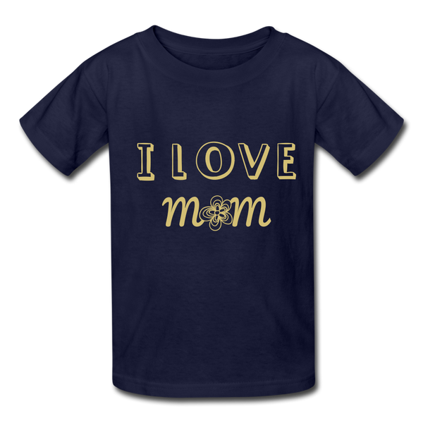 i love mom Kids' T-Shirt - navy