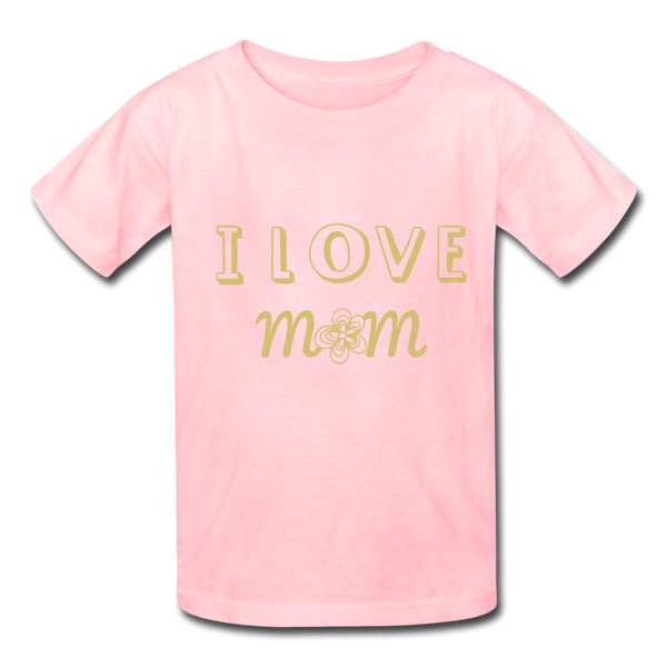 i love mom Kids' T-Shirt - pink