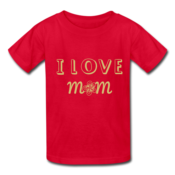 i love mom Kids' T-Shirt - red