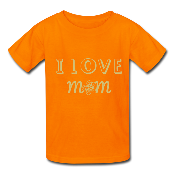 i love mom Kids' T-Shirt - orange