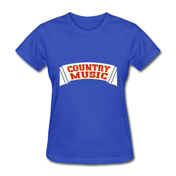 Country Music Women's T-Shirt - royal blue