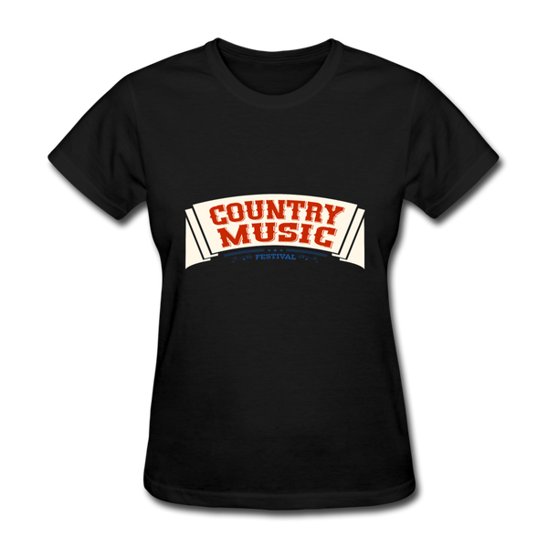 Country Music Women's T-Shirt - black