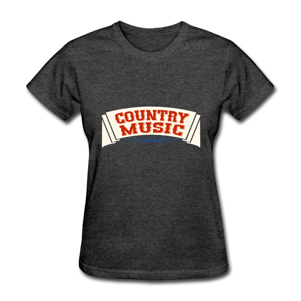 Country Music Women's T-Shirt - heather black