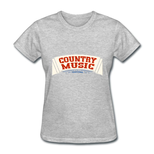 Country Music Women's T-Shirt - heather gray