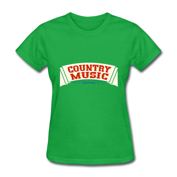 Country Music Women's T-Shirt - bright green