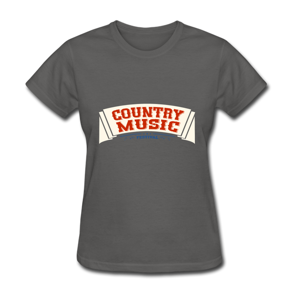 Country Music Women's T-Shirt - charcoal