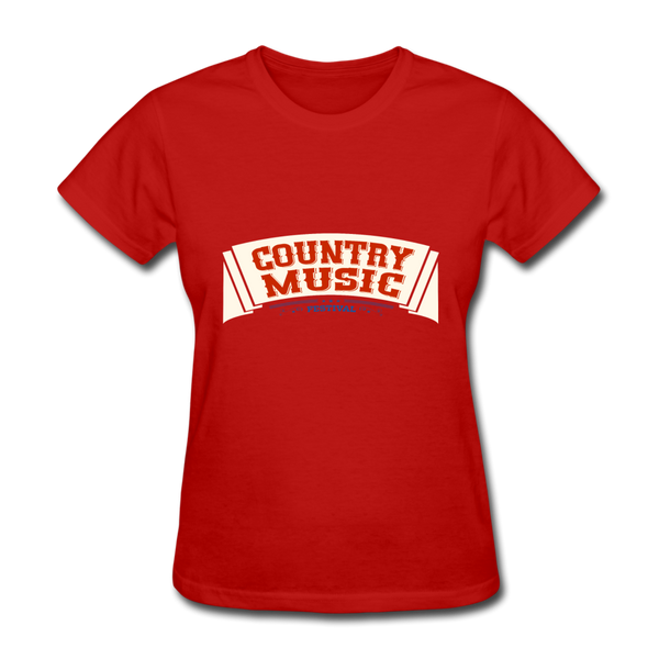 Country Music Women's T-Shirt - red