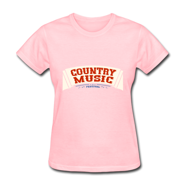 Country Music Women's T-Shirt - pink