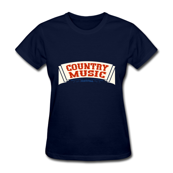 Country Music Women's T-Shirt - navy