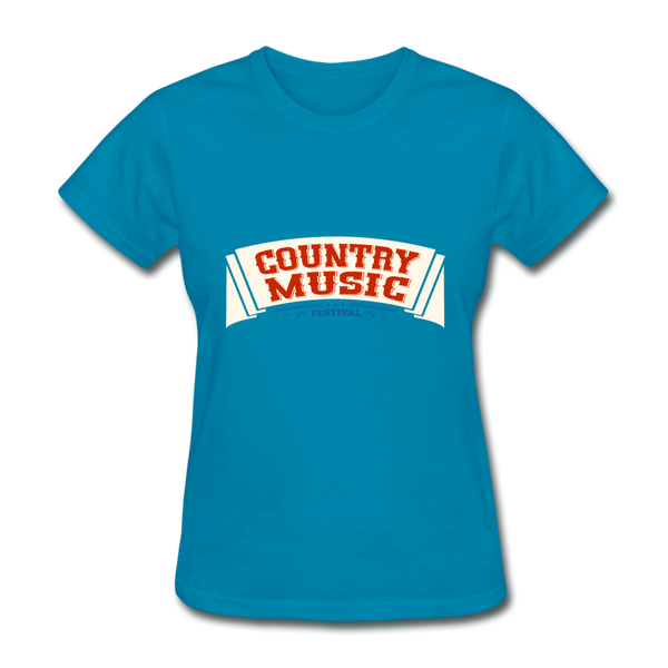 Country Music Women's T-Shirt - turquoise