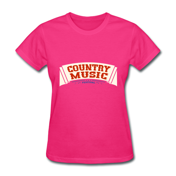 Country Music Women's T-Shirt - fuchsia