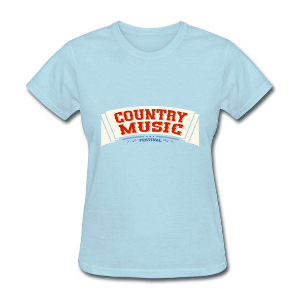 Country Music Women's T-Shirt - powder blue