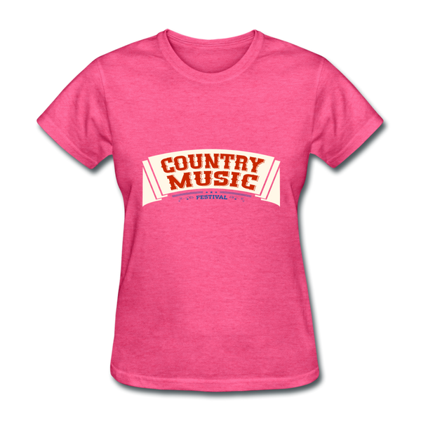 Country Music Women's T-Shirt - heather pink