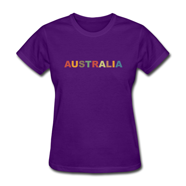 Australia Women's T-Shirt - purple