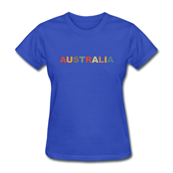 Australia Women's T-Shirt - royal blue