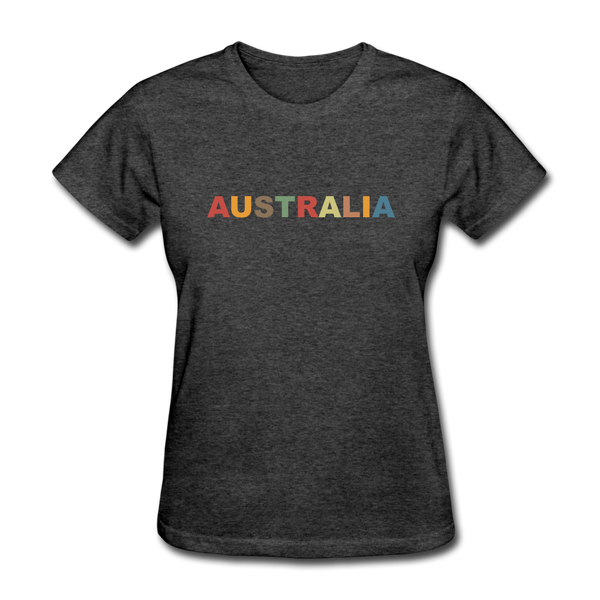 Australia Women's T-Shirt - heather black