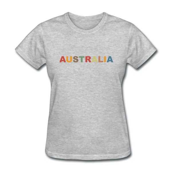 Australia Women's T-Shirt - heather gray