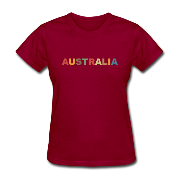 Australia Women's T-Shirt - dark red