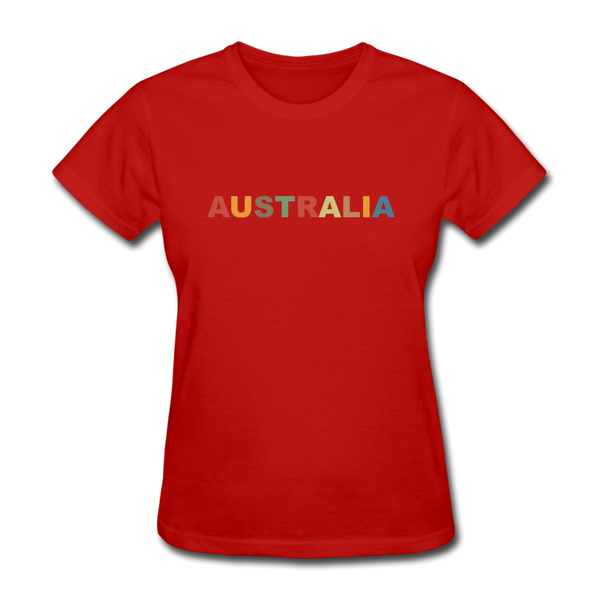 Australia Women's T-Shirt - red