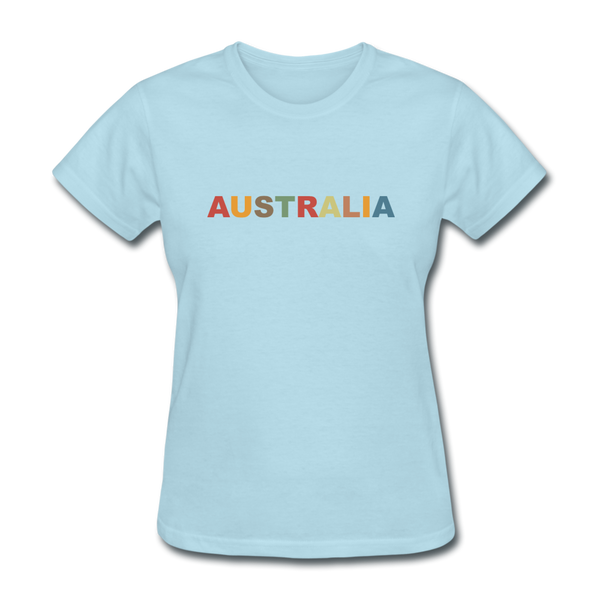 Australia Women's T-Shirt - powder blue