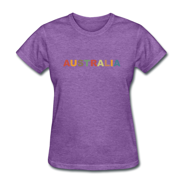 Australia Women's T-Shirt - purple heather