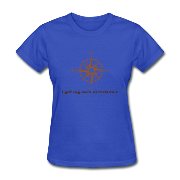 Directions Women's T-Shirt - royal blue